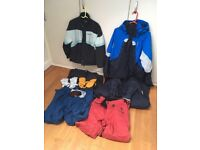 Ski Wear , quicksilver ladies and mans jacket, ski trousers , gloves , will sell separately