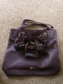Lipsy Bow Bag plumb colour Brand New