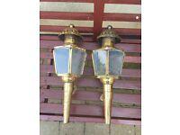 Brass Carriage lanterns/ Lights/ Project / antique