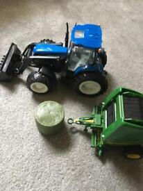 Tractor and bailer ser
