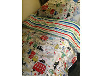 Boy's Single/Twin Size Bedding Set, Cars/Transportation PRICE LOWERED