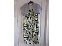 Green and silver Party, Evening Dress and Bolero size 14