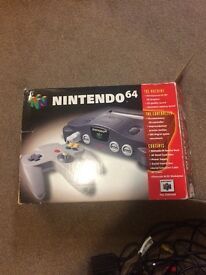 Nintendo 64 console and games