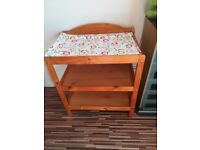 baby changing table, pine, solid