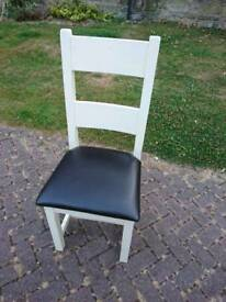 Six Solid Heavy Oak Chairs