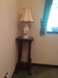 Tall side table (lamp optional)