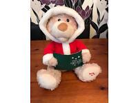Christmas singing teddy