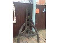 Reclaimed Teak corner chair £80 Wagon Wheel £100 Gloucester.