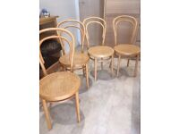 4 bentwood bistro chairs