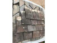 Staffordshire blue and brindle roof tiles handmade