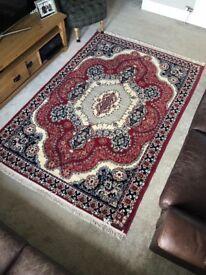 Red Wool Moroccan Heavy Rug Carpet (Unused)