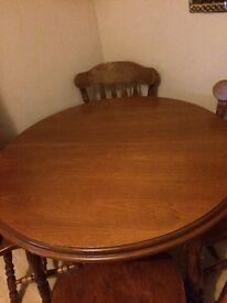 Wood dining table quick sale
