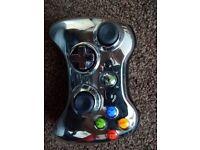 Xbox 360 controller chrome black vgc