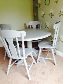 Table And Chairs Farmhouse Shabby Chic