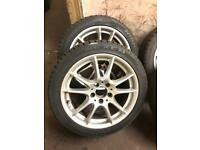 "GENUINE 17"" MERCEDES A/B CLASS ALLOYS WITH NEXEN TYRES 5x112"