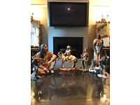 Red indian statues joblot