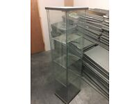 Glass Shop Display Units 4 tier - with lighting