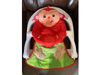 Fisher Price Sit Me Up portable baby floor chair Monkey