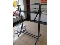 clothes shop hanging stand and racking