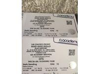 2 x tickets to the Goo Goo Dolls Brixton Academy Thurs 26th July
