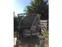 8ft Plum Whirlwind Trampoline with 3G safety