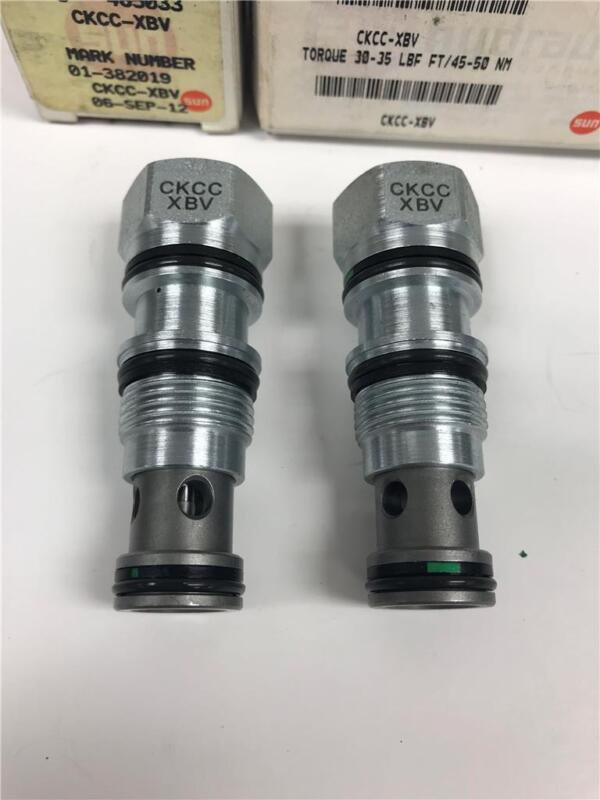 SUN Hydraulics Pilot Cartridge Valve 382019 465033 CKCC-XBV 1IE2 50NM 2PC LOT