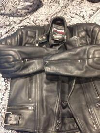Ladies leather biking jacket