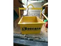 Boscaro Heavy Duty 100 Litre Scaffold Hoist  Lifting Tipping Muck Skip Bucket