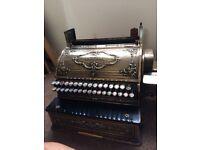 Old Large Brass Cash Register Vintage