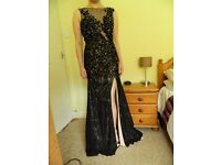 Elegant Mori Lee Prom/Cruise/Evening Black Lace Dress - size 8/10, worn once & dry cleaned
