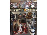 Action figures wanted! Geek memorabilia and collectables. Star Wars Trek comic power ranger batman
