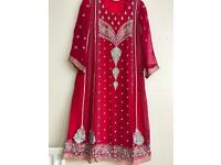 Indian/Pakistani Party wedding dress Maxi style (OVNO)