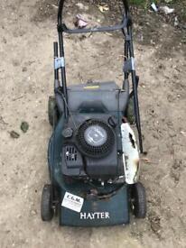 Petrol lawn mower space or repair