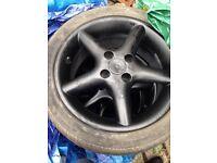 15inch black alloy wheels