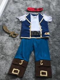 Jake and the Never land pirates costume 6-7