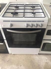 White Montpellier 60cm gas cooker grill & oven good condition with guarantee