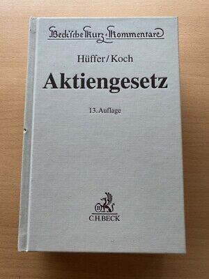Hüffer Koch AKTIENGESETZ AktG Kommentar 13. Auflage