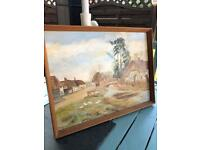 Old original signed oil painting been passed through the family vintage £50