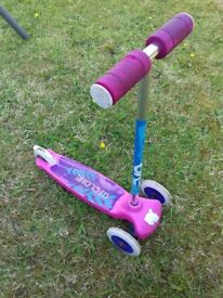 Kids girls pink scooter