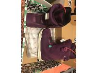 K2 Sapera purple size 4.5 girls/ ladies snowboarding boots
