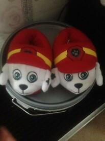 Paw patrol slippers (never worn)