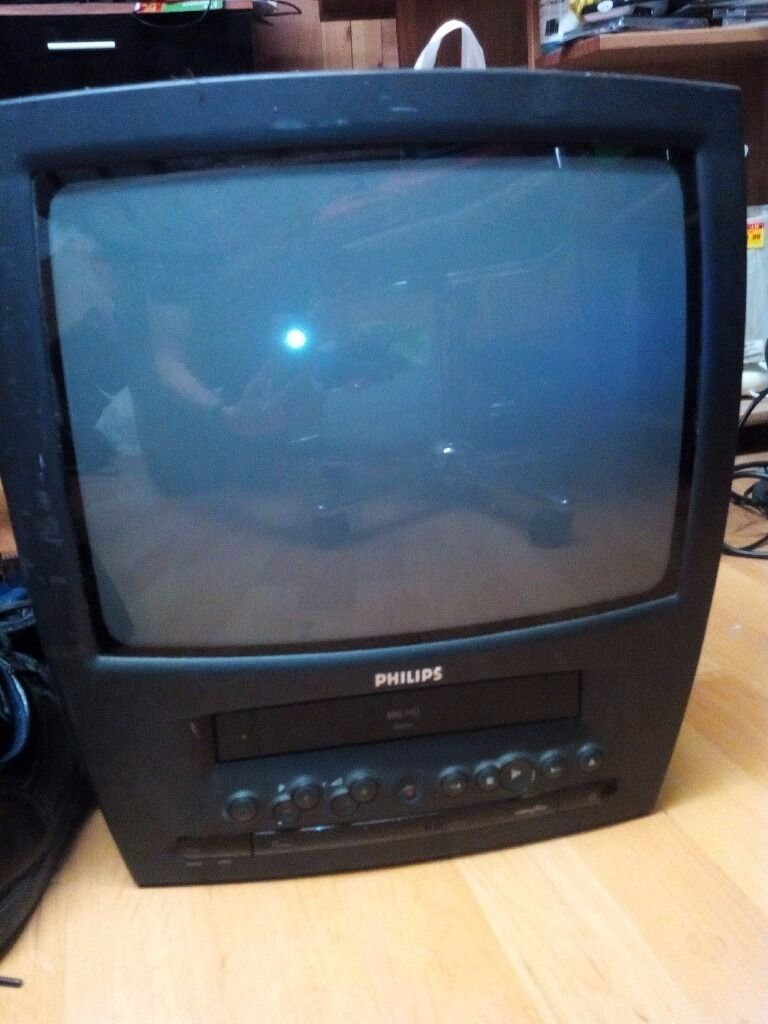 philips 14 quot  crt tv with built in video  vhs  recorder vcr in maidstone  kent gumtree Philips 22 Flat Screen TV Philips 42 LCD TV Troubleshooting
