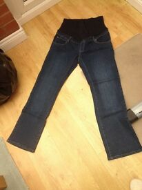 Maternity over the bump jeans size 16