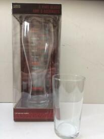 Marks & Spencer Huge 2 Pint Glass & Coaster Set BNIB