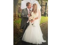 Wedding dress with vail ,tiara and brand new shoes