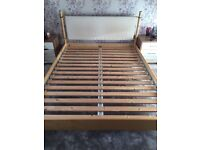 King size ikea wooden bed frame