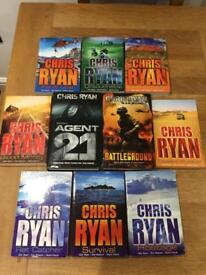 Men's / Kids Chris Ryan Reading Books Complete Set