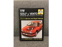 Rare VW VOLKSWAGEN GOLF HAYNES CAR MANUAL SERVICE SND REPAIR VENTO 1990s 90s Book SDHC