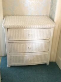 Rattan Cabinet Chest of Drawers Excellent condition