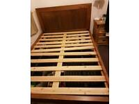 Free wooden double bed frame